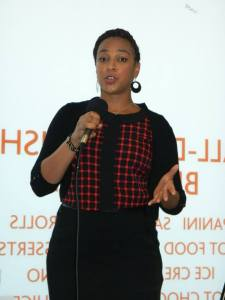 Me guest speaking at the launch